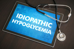 Idiopathic hypoglycemia (endocrine disease) diagnosis medical co Royalty Free Stock Photo