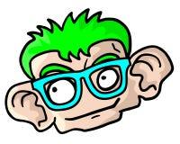 Idiot face Stock Image