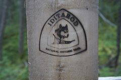 Iditarod Sign Stock Photography