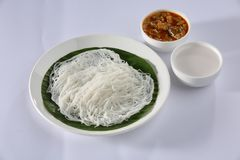 Idiyappam z kokosowym mlekiem Obraz Stock