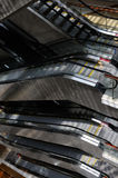 Idle escalators of market Royalty Free Stock Images