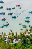 Idle fishing boats in Ben Ngu wharf, Nam Du islands, Kien Giang Stock Photo