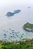 Idle fishing boats in Ben Ngu wharf, Nam Du islands, Kien Giang Stock Photography