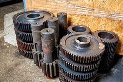 Idle gears and shafts. Are at the factory Stock Image