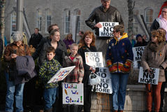 IDLE NO MORE - Guelph, Ontario Protest Royalty Free Stock Photo