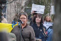 IDLE NO MORE - Guelph, Ontario Protest Stock Photos