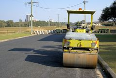 Idle road work machine in Australia royalty free stock photo
