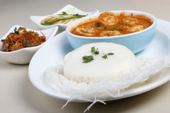 Idli -从南印度的被蒸的米糕 免版税图库摄影