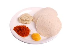 Idli with chutney Royalty Free Stock Photography