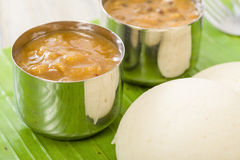 Idli, Chutney and Sambar Stock Photos