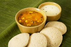 Idli with Coconut Chutney Royalty Free Stock Photography