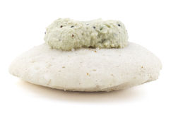 Idli with coconut chutney Stock Photography
