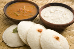 Idli with sambar Royalty Free Stock Photos
