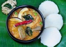 Idli Sambhar. South Indian meal Stock Photos