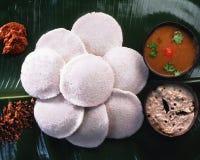 Idlis южный индийский завтрак штапеля стоковые фотографии rf