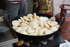Idlis Cooked in Wok Royalty Free Stock Photos