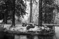 Idllic Winter Park Stock Images