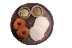 Idly and medu vada Royalty Free Stock Photo