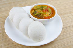 Idly served with sambar Royalty Free Stock Photo