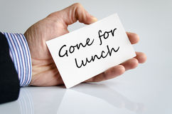 Ido para el concepto del almuerzo foto de archivo libre de regalías