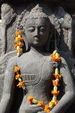Idol. Religious idol with marigold garland Stock Image