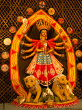 Idol of goddess Devi Durga. Made of clay Stock Image