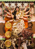 Idol of goddess Devi Durga. Made of clay Stock Images