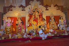 Idol of Goddess Durga. Festival is celebrated during the whole period of Navaratri for 10 days. Congress Bhawan, Pune, Maharashtra Royalty Free Stock Photos