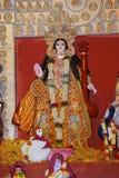 Idol of Goddess Durga. Festival is celebrated during the whole period of Navaratri for 10 days. Congress Bhawan, Pune, Maharashtra Stock Images