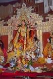 Idol of Goddess Durga. Festival is celebrated during the whole period of Navaratri for 10 days. Congress Bhawan, Pune, Maharashtra Royalty Free Stock Images