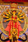 Idol of Goddess Durga. Durga puja celebration in kolkata, west Bengal Royalty Free Stock Images