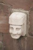 Idol head statue from Tiwanaku royalty free stock photo