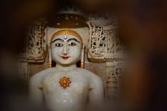 Idol in Jain temple. Jaisalmer Fort. Rajasthan. India Stock Photo