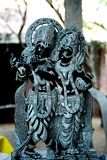 Idol of Krishna and Radha. Close up Stock Images