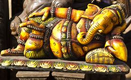 An idol of lord ganesha. At a festival royalty free stock photos