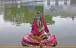 Idol of Lord Shiva in Durgiana Temple, Amritsar, India Stock Photos
