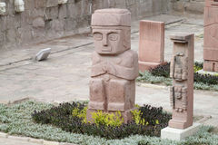 Idol statue from Tiwanaku Royalty Free Stock Image