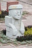 Idol statue from Tiwanaku stock image