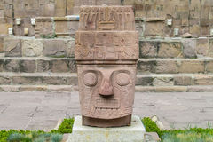 Idol statue from Tiwanaku royalty free stock images