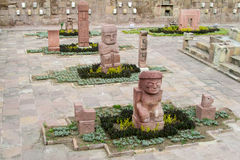 Idol statue from Tiwanaku in La Paz, Bolivia royalty free stock photography