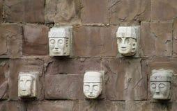 Idol statue from Tiwanaku in La Paz, Bolivia stock photo