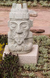 Idol statue from Tiwanaku in La Paz, Bolivia. Ancient idol statues, sculptures from Tiwanaku inca archaeological site on the square in La Paz, Bolivia royalty free stock image