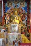 Idol von Lord Buddha im Kloster von Bodh-gaya, Bihar Indien lizenzfreies stockfoto