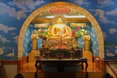 Idol władyka Buddha w monasterze Bodh gaya, Bihar India obrazy stock