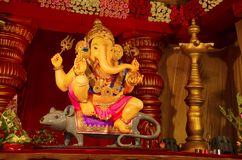 Idol władyka Ganesha, Pune, maharashtra, India Zdjęcia Stock
