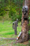 Idol in a wood. Stock Images