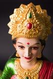 Lakshmi or laxmi puja on diwali festival. Idol worshipping of Hindu Goddess Lakshmi - Lakshmi Puja is a Hindu religious festival that falls on Amavasya new moon Stock Photography