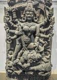 Idole archéologique indien de déesse de Durga de chlorure Photographie stock libre de droits