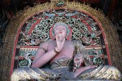 idole chinoise de porcelaine de Bouddha Photographie stock