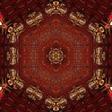 Idole d'or de mandala de conception de ganpati abstrait de calibre image libre de droits